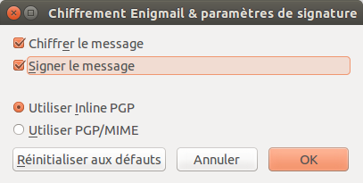 19 message signe chiffre inlinepgp enigmail