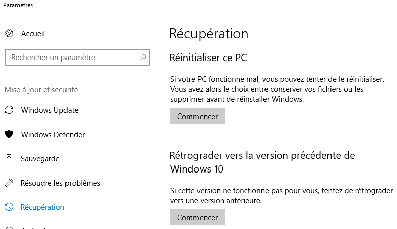 sauvegarde windows10