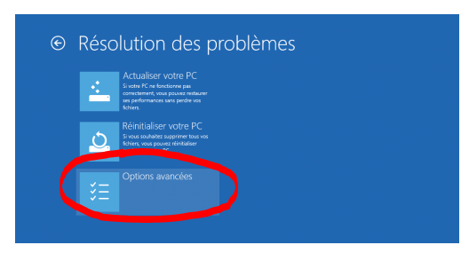 windows 10 reboot options avancees
