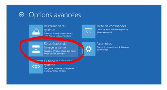 windows 10 recuperation de l image systeme